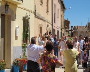 San Román es sacado en procesión