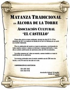 Cartel publicitario de la Matanza 2011