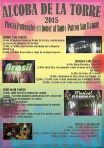 Cartel Fiestas Alcoba de la Torre 2015