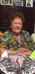 La abuela mica cumple 96 años